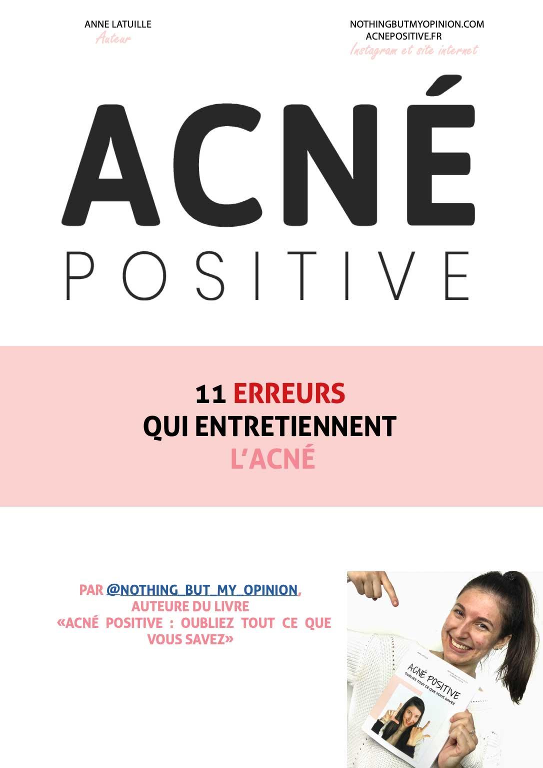 Ebook Acne Positive Gratuit Web