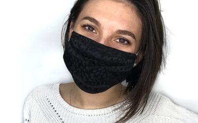 """Masque en soie noir contre le """"Maskné"""" !"""
