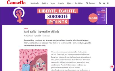 Article Causette : Acné Adulte, la peausitive attitude