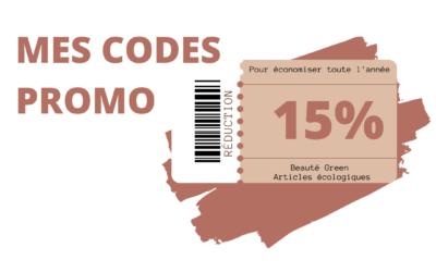 Mes codes promo de green beauté et écologie